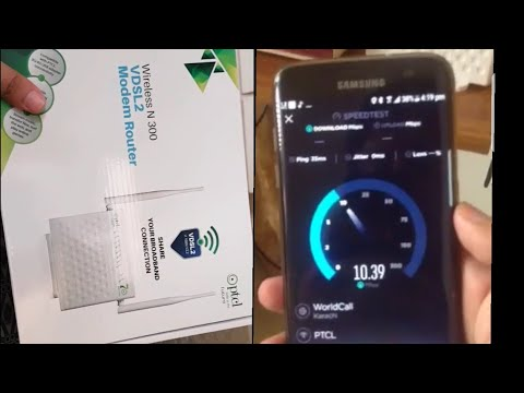 Testing PTCL 10 Mbps internet and it's new VDSL high speed modem. - YouTube
