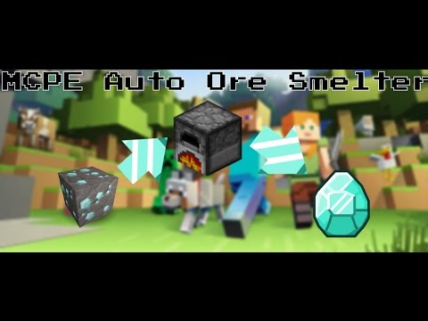 Minecraft PE: Automatic Ore Smelter ¦| Redstone Tutorial