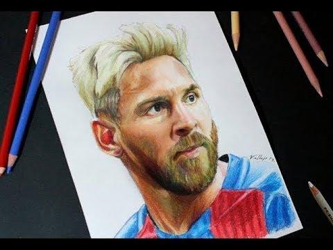 Dibujo de Leo Messi  Speed Drawing comentado  YouTube