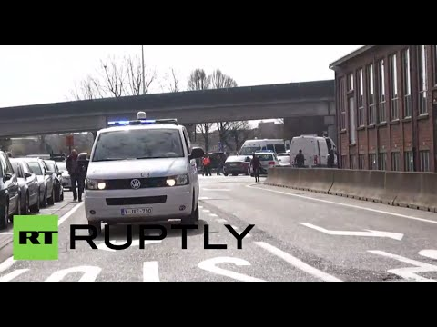 Brussels Zaventem airport bombings aftermath (Recorded LIVE)