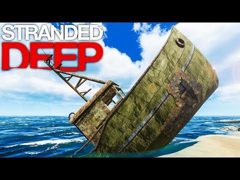 Stranded Deep - EXPLORING SHIPWRECKS & ISLANDS, BOAR HUNTING - Ocean Island Survival Gameplay Part 2