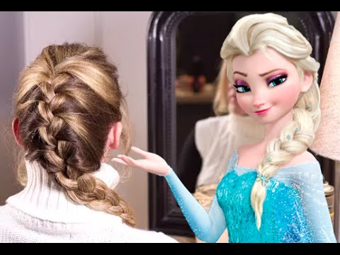 tuto coiffure la elsa la tresse de la reine des neiges youtube. Black Bedroom Furniture Sets. Home Design Ideas