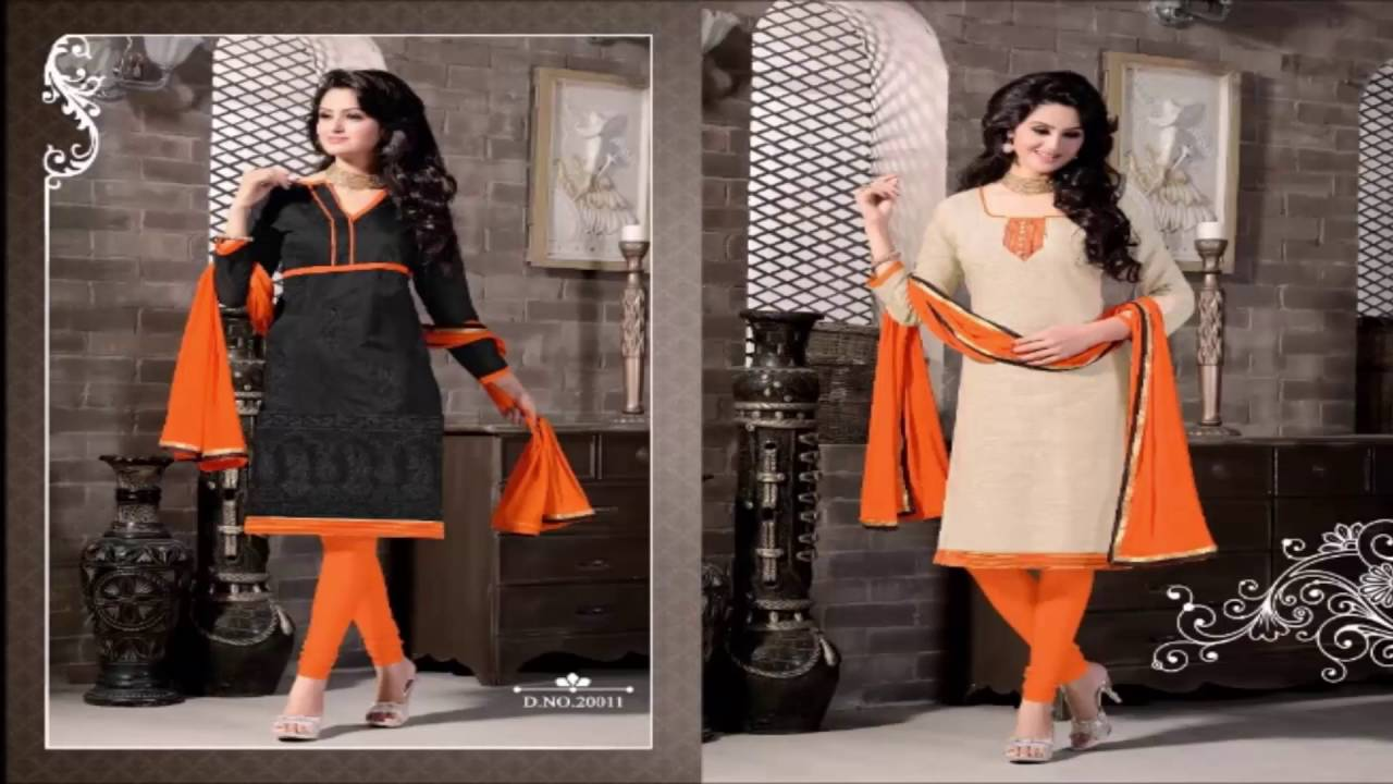 New dress collection for diwali for women - Cotton Salwar Suits 2 Cotton Tops Diwali Special Latest Fashion Collection Dresses Youtube