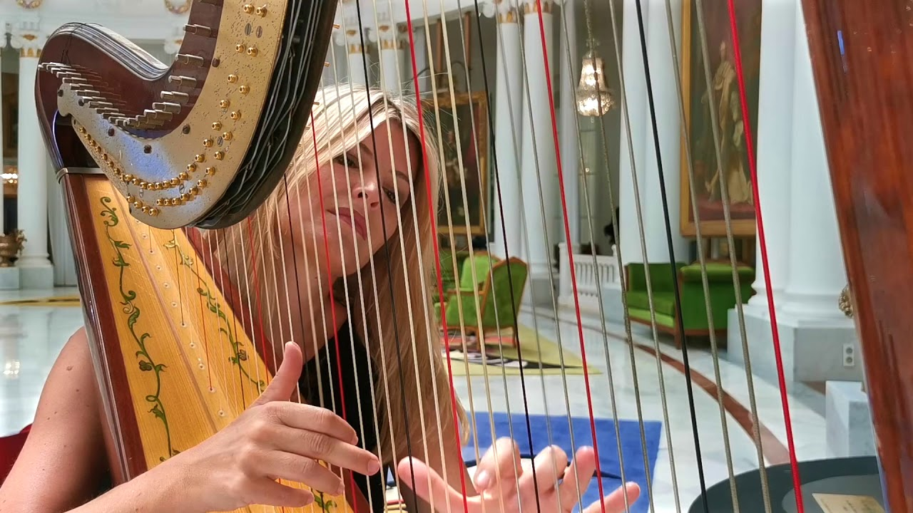 You raise me up - Harp cover