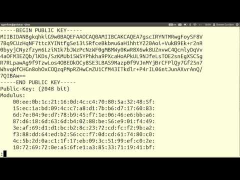 RSA Key Generation, Signatures and Encryption using OpenSSL