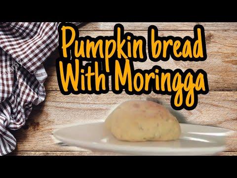 Pumpkin bread with Malunggay/Moringa leaves