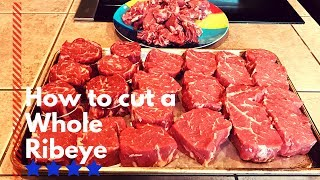 How to butcher a whole ribeye | Taking the Ribeye cap
