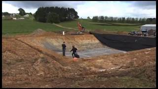 Dairy Effluent Pond - Time Lapse of a Firestone EPDM Geomembrane Installation