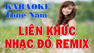 Karaoke Liên Khúc Nhạc Đỏ DJ || Gửi Em Ở Cuối Sông Hồng || Tone Nam DJ Remix Thái An Studio