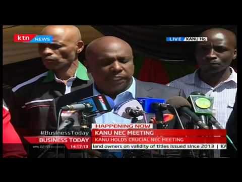KANU briefs the media on state of the party after NEC meeting