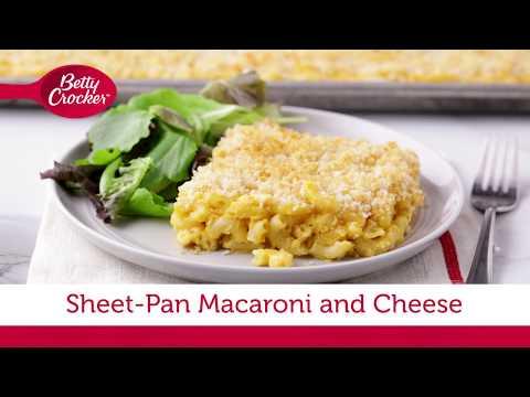 Sheet-Pan Macaroni And Cheese | Betty Crocker Recipe