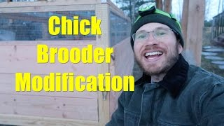 Chick Brooder Modification