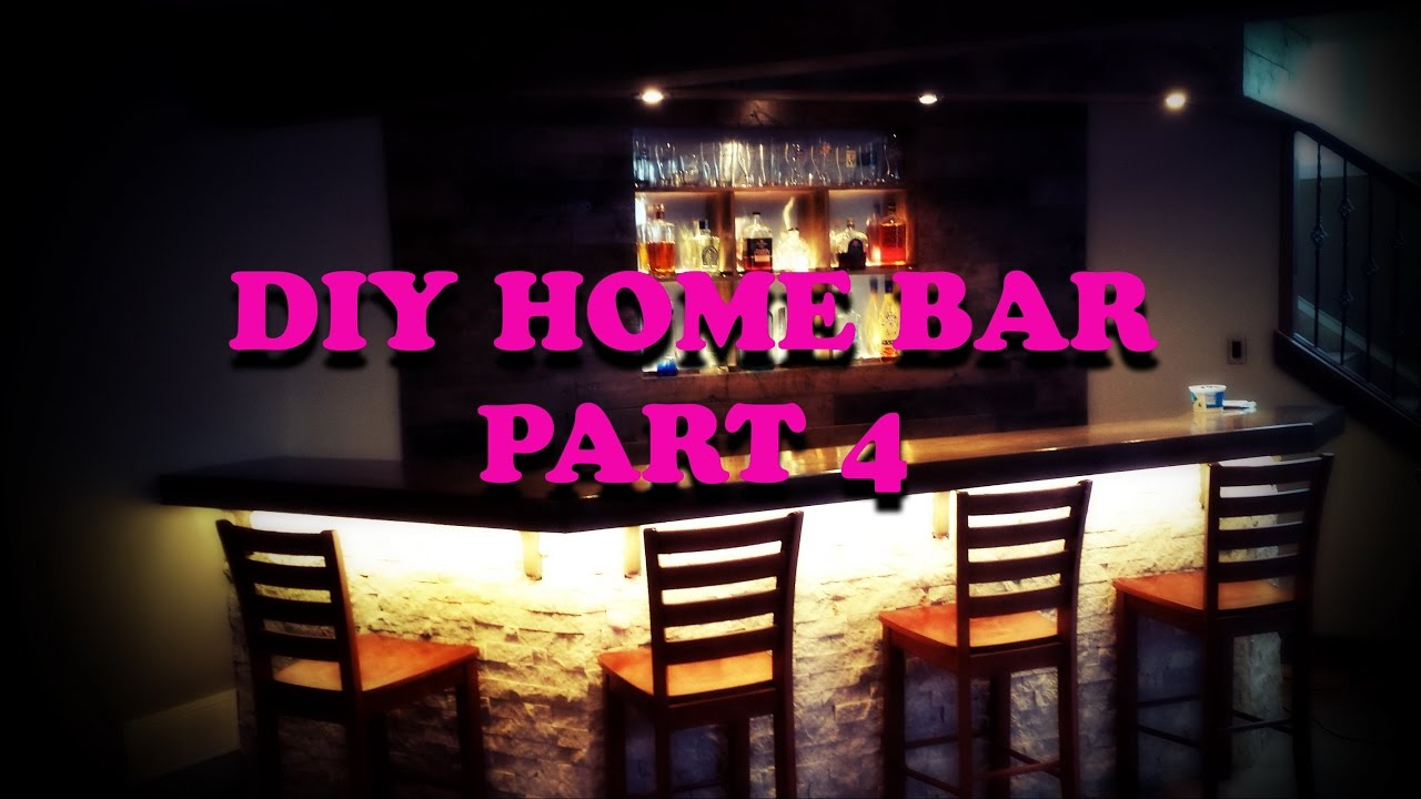 Diy Home Bar Part 4 Back Lighting