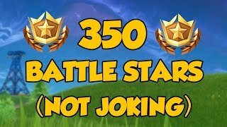 HOW TO GET *350* BATTLE STARS IN FORTNITE! (not clickbait!)