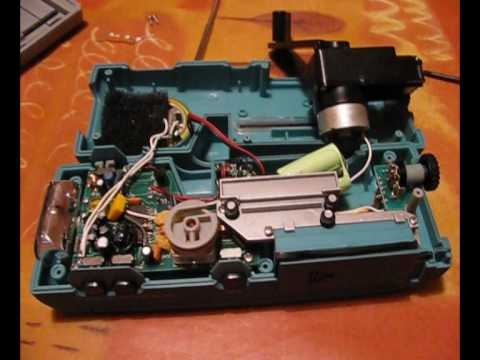 Taking apart a wind-up radio