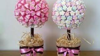 Como fazer Árvore de Marshmallow – centro de mesa Tutorial