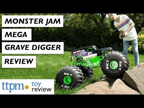 RC TRUCK REVIEW | Monster Jam Mega Grave Digger from Spin Master