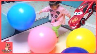 거대 서프라이즈 풍선 장난감 놀이 ♡ 그속에 디즈니카 자동차 장난감? Giant Balloons surprise toys Disney car | 말이야와아이들 MariAndKids