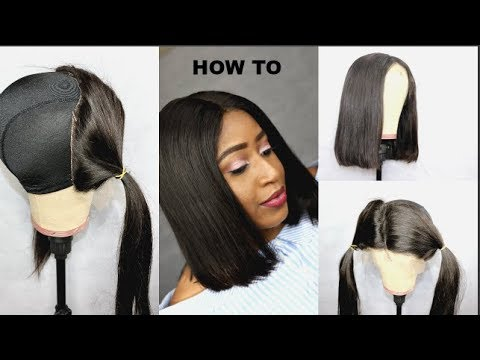 how to cut a blunt bob wig