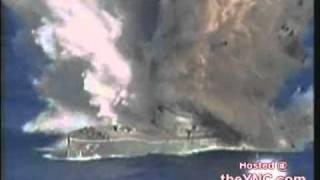 Destroy old ship by torpedo