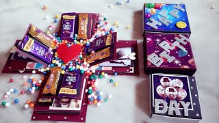 #Birthday Explosion box #Chocolate explosion box.. #Special gift for birthday...🎁❤