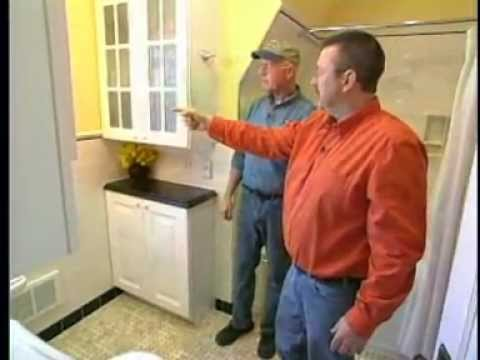 Bathroom Remodeling In A Year Old Home YouTube - Old home bathroom remodel