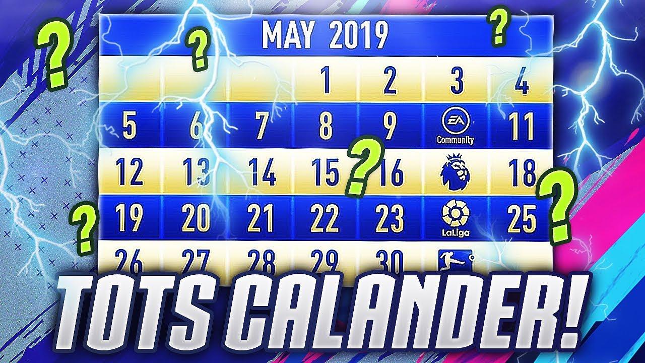 Calendrier Fifa 2019.All Tots Release Dates Sbcs Fifa 19 Tots Calander