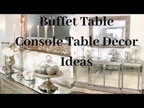 Console Table Decor Ideas Glam Home Decor on a Budget