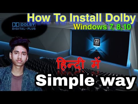 How To Install Dolby Digital Sound   Download Dolby Advance - Windows 7,8,10