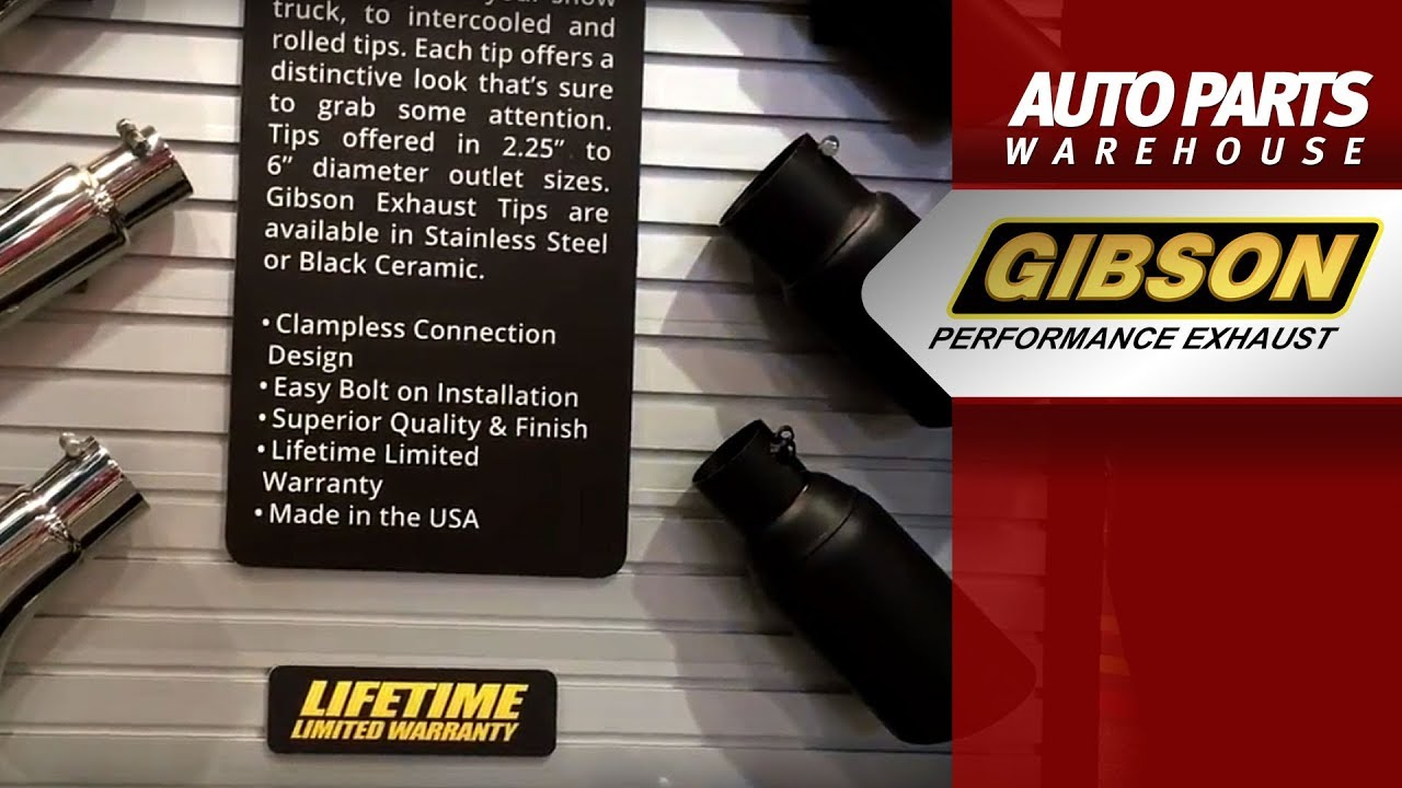 gibson universal exhaust tips stainless steel black ceramic and many other options
