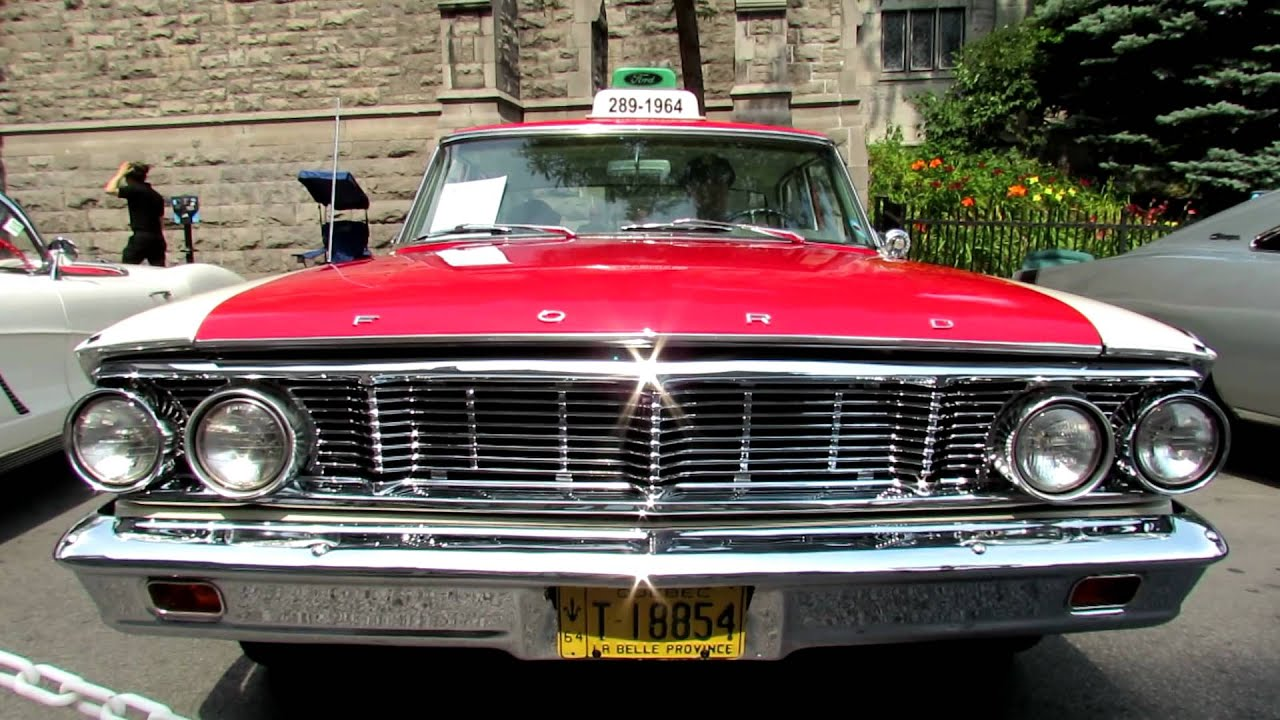 Ford Custom  Taxi Exterior And Interior Saint Catherine Street Montreal Quebec Canada