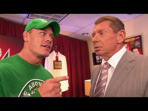 John Cena recommends Mr. McMahon fire John Laurinaitis: Raw, June 11, 2012