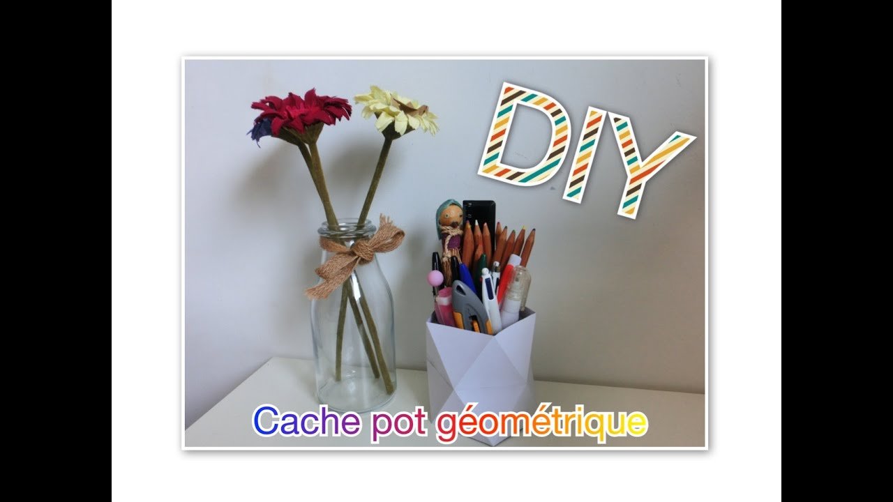 diy cache pot g om trique en relief tuto n 7 youtube. Black Bedroom Furniture Sets. Home Design Ideas