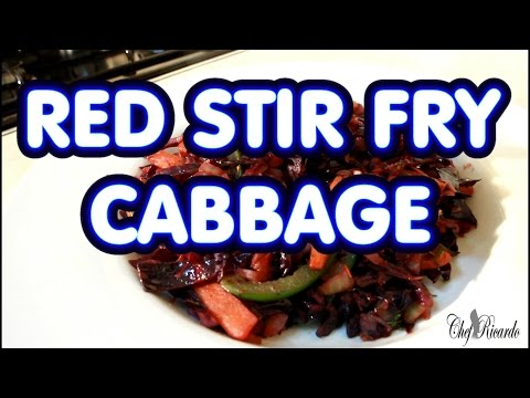 Red Stir Fry Cabbage With Mixed Vegetables | Recipes By Chef Ricardo