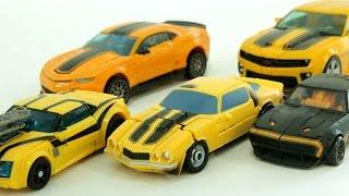 Transformers Autobot Bumblebee  Vehicle Robot Transformation Car Toys 트랜스포머 범블비 5종 자동차 장난감 로봇 변신 동영상