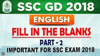 Fill In The Blanks | Part 2 | SSC GD 2018 | English | Live at 3 PM thumbnail