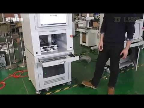 New design automatic door enclosure type fiber laser marking machine XTLASER