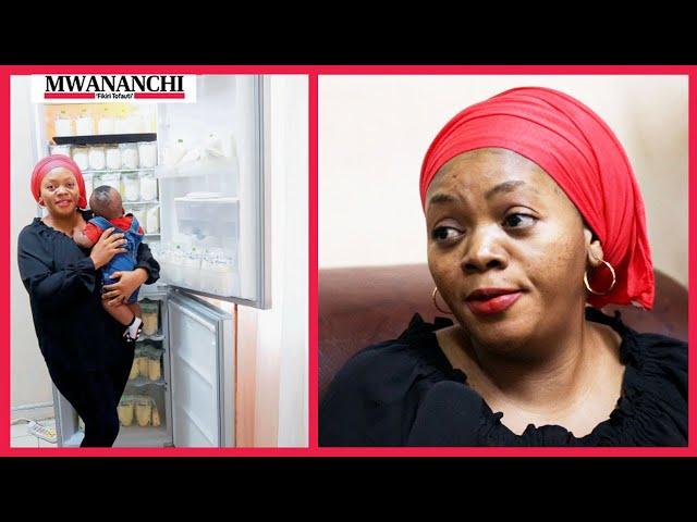 #AfyaKona: Mama anayekamua lita 40 za maziwa yake mwenyewe
