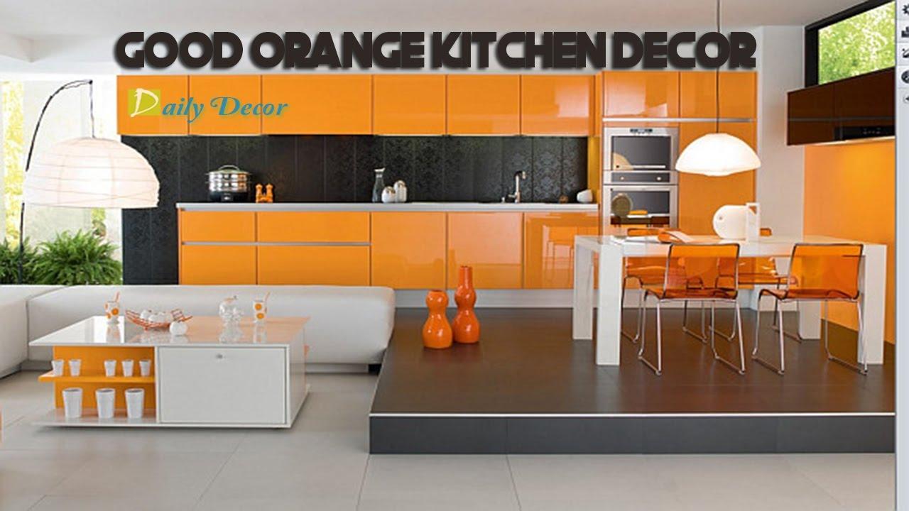 Daily decor orange kitchen decorating ideas youtube for Kitchen decorating ideas youtube