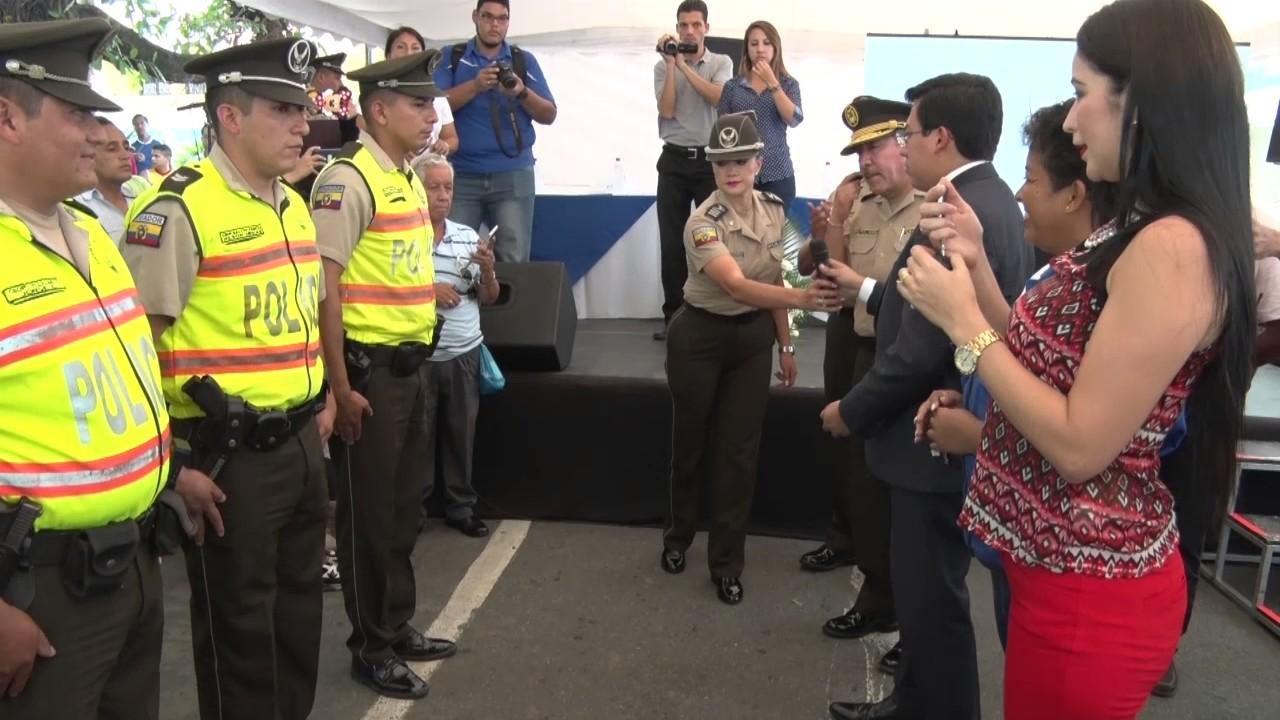 Ministerio del interior entreg patrulleros en milagro for Ministerio del interior ecuador
