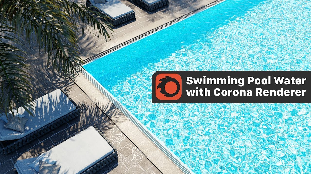How to create a Swimming Pool Water with Corona Renderer