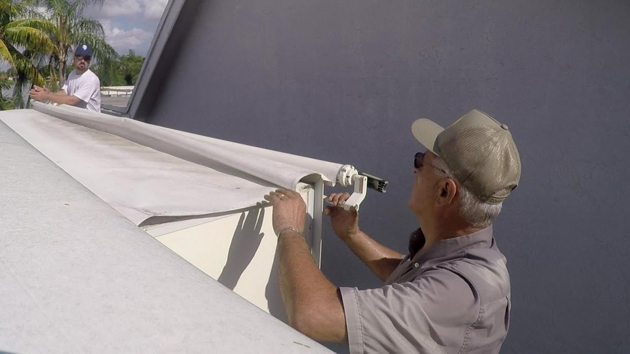 How To Replace Rv Slide Out Topper Awning Fabric Youtube