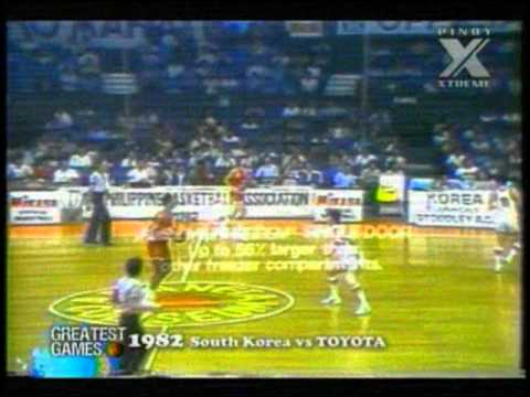 1982 Invitational Conference Toyota vs. Korea 4th Quarter