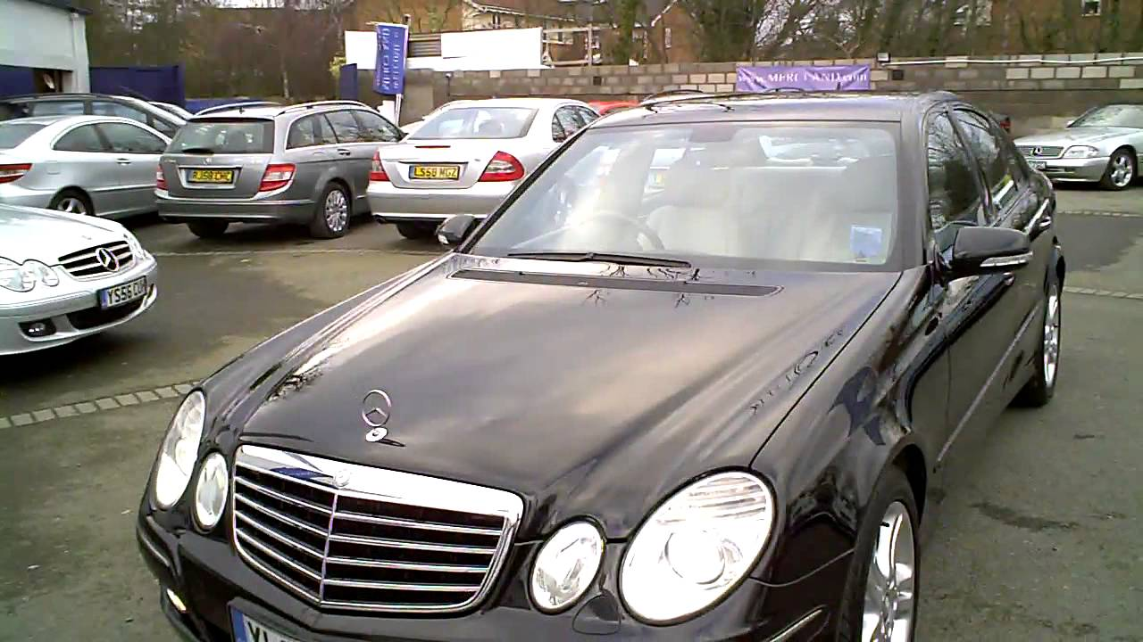 2008 mercedes e320 cdi avantgarde auto saloon diesel black youtube. Black Bedroom Furniture Sets. Home Design Ideas