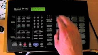 Роланд R70 Для Драм-Машини Демо