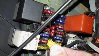 Блок тежегіш және реле орналасқан салонында Daewoo Matiz 0.8 L-1.0 L МКПП және АКПП