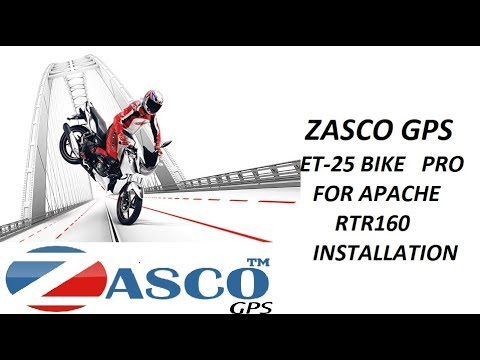 Zasco Gps ET-25 BIKE PRO Tracker With Ignition cut off feature Installation in TVS APACHE RTR 160