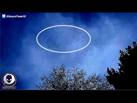 TERRIFIED Man Records Giant MACHINE UFO Hiding In Sky 4/7/16