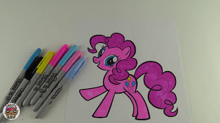 My Little Pony Coloring Book Pages Pinkie Pie MLP Video for Kids Art | Toy Caboodle