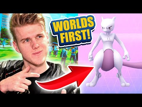 THE WORLDS FIRST EVER MEWTWO CAUGHT IN POKEMON GO!